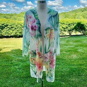 Calstyle Long Floral Kimono
